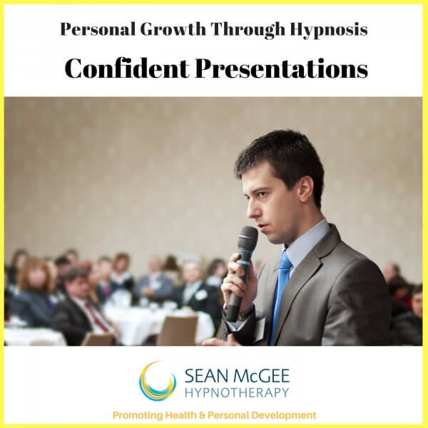 Hypnosis for confident presentations from Sean Mc Gee Hypnotherapy