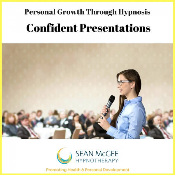 Confident Presentations. Hypnosis for presentation confidence by Sean Mc Gee Hypnotherapy